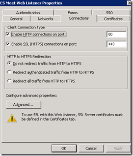 Publishing Lync Server 2010 (RC) Simple URLs and Web